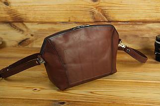 Сумка женская. Кожаная сумочка Майя Кожа Итальянский краст цвет Коричневый, фото 2
