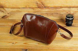 Сумка женская. Кожаная сумочка Майя Кожа Пуллап цвет Коньяк, фото 2