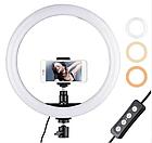 ОПТ Кільцева світлодіодна селфи лампа Selfie Ring Fill Light ZD666 10 Вт D=26 см 5500K - 3200К, фото 2