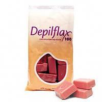 Горячий воск для депиляции DepilFlax 1 кг роза