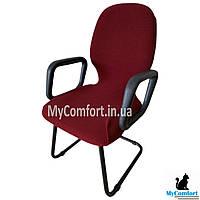 Чехол на офисное кресло. Бордовый (KareOffice+)