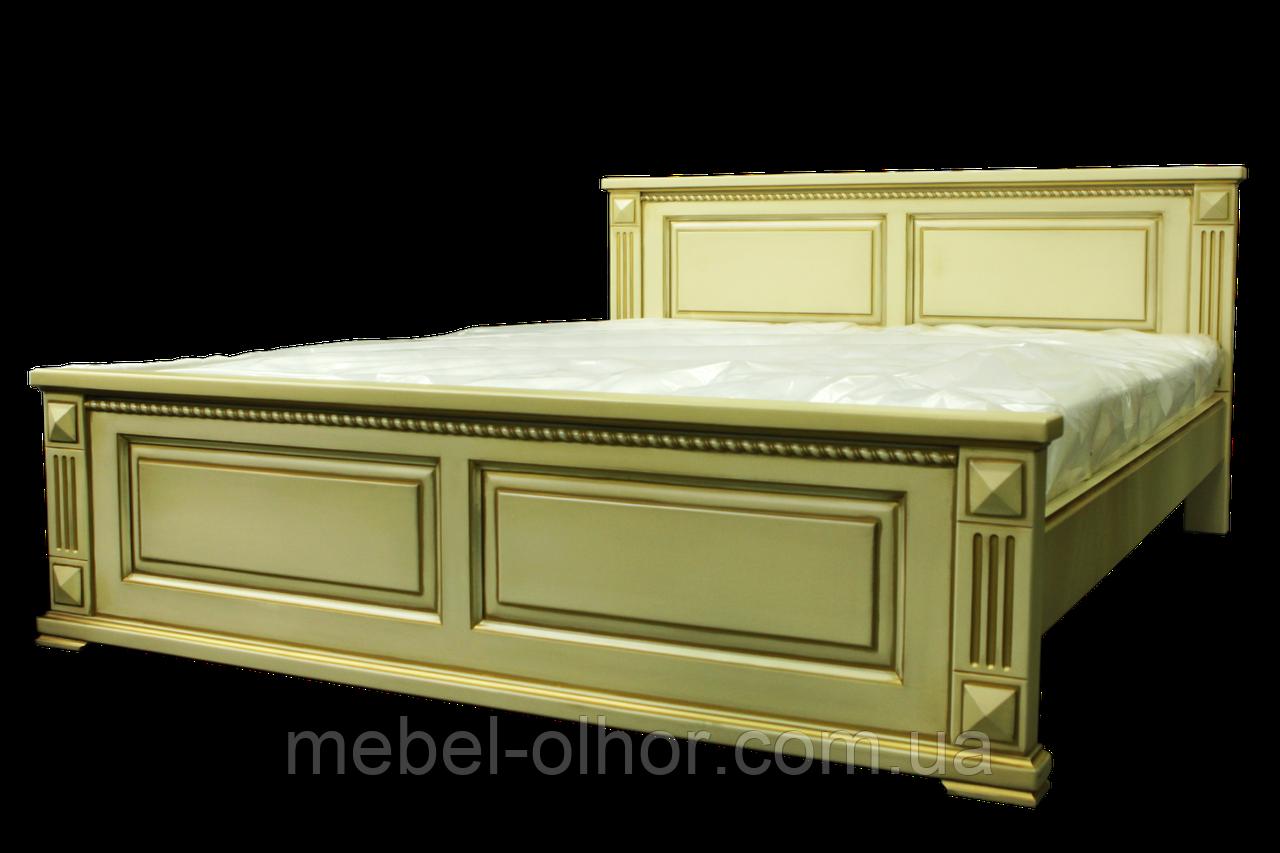 Кровать массив ольхи Версаль 200*200 белая от производителя