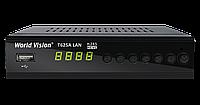 World Vision T625A LAN H.265 Т2 Тюнер с обучаемым пультом и Ethernet входом 100 мб.