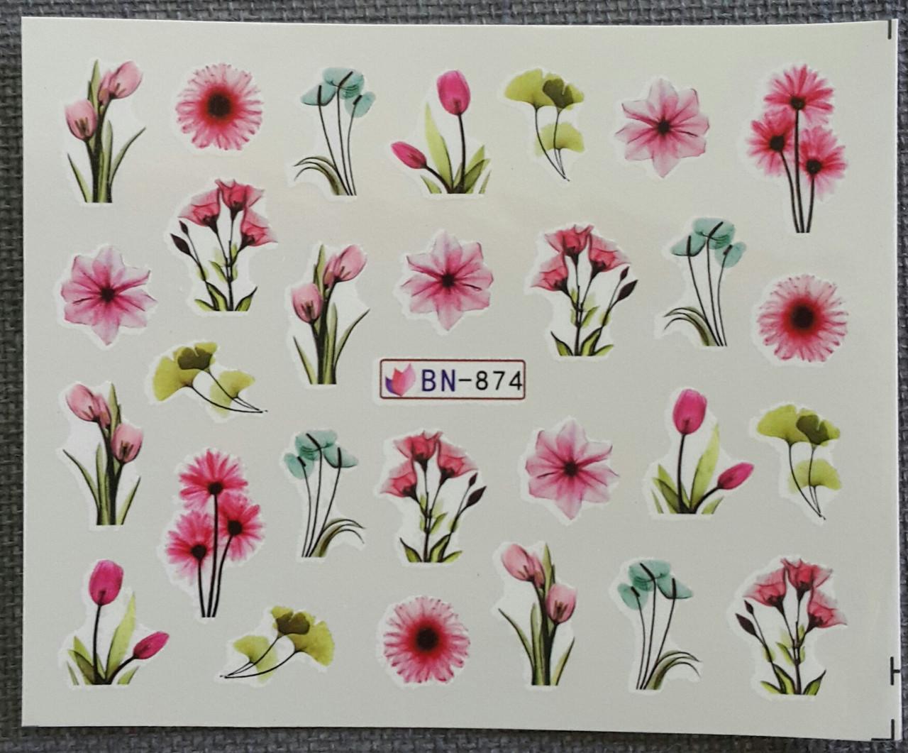 Наклейка для нігтів BN-874