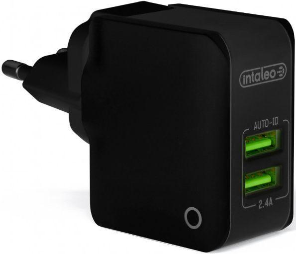 Мережевий зарядний пристрій Intaleo TCA242 2USB Black