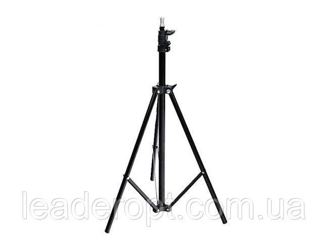 ОПТ Профессиональный стальной штатив Ballu BIH-LS-210 для кольцевой селфи лампы 210 см с прижимным механизмом