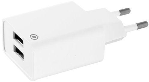 Мережевий зарядний пристрій Piko TC-242 2USB White
