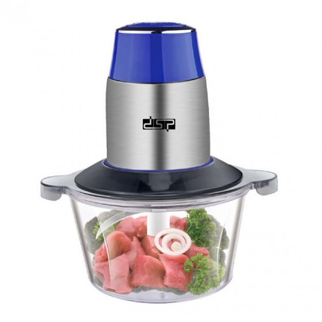 Подрібнювач блендер електричний чоппер для кухні з стекляннойй чашею 1.7 л DSP 300W