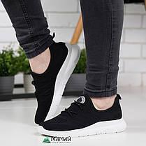 Жіночі кросівки чорні сітка на літо, фото 2