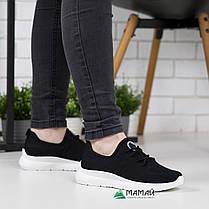 Жіночі кросівки чорні сітка на літо, фото 3