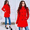 Женское стильное пальто на пуговицах