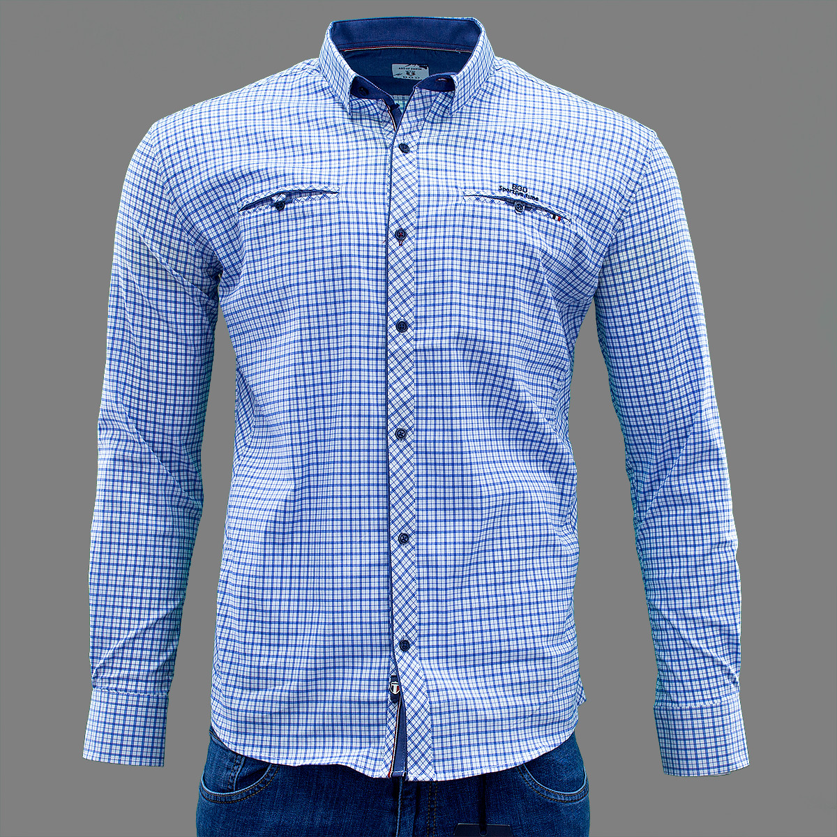 Сорочка чоловіча, приталена (Slim Fit), з довгим рукавом Bagarda BG6603 WHITE 93% бавовна 7% еластан L(Р)