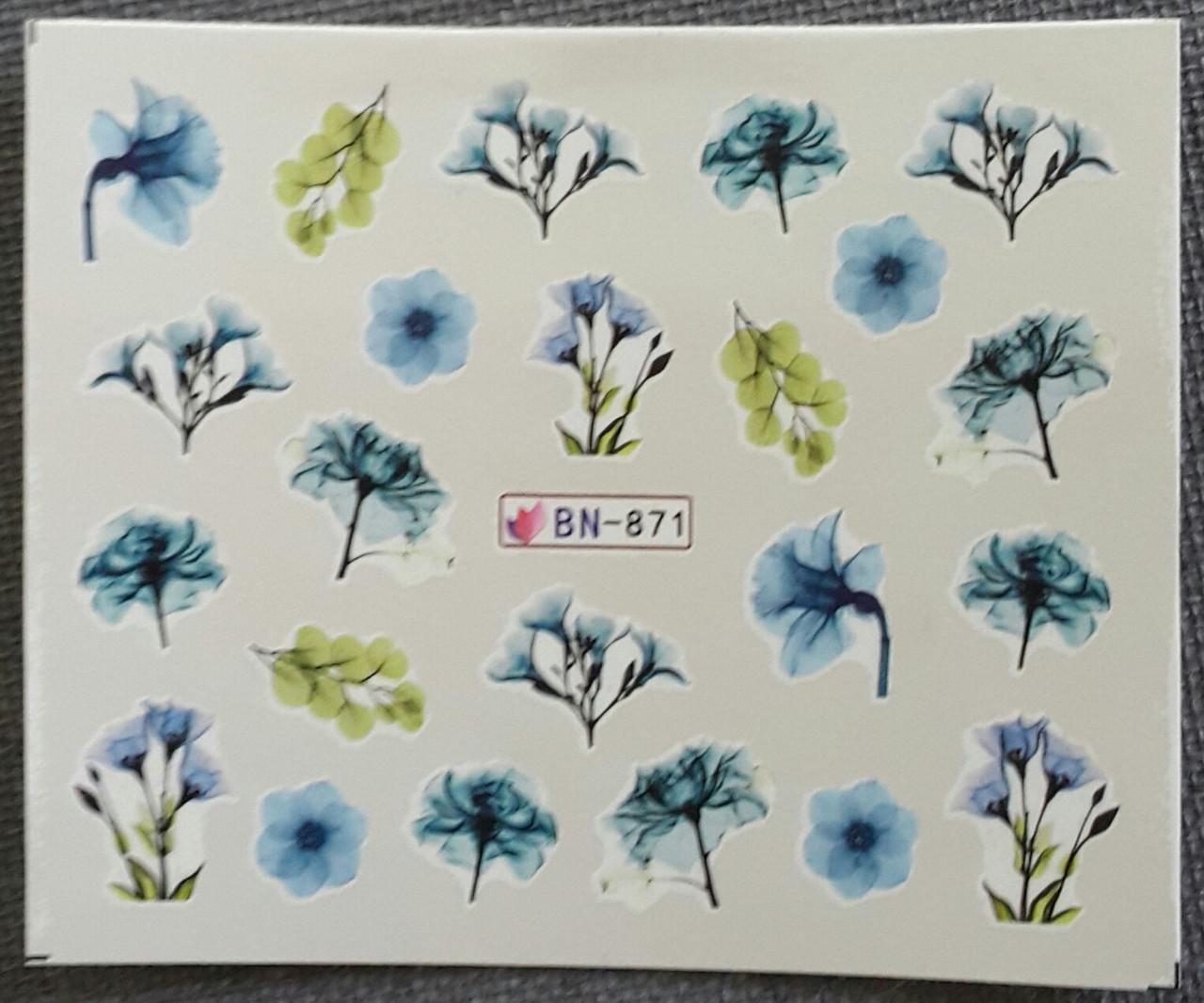 Наклейка для ногтей BN-871