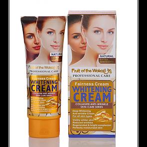 Крем для деликатного отбеливания Wokali Collagen Anti-Wrinkle Whitening Cream с разглаживающим эффектом 100 мл