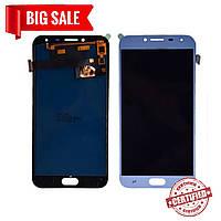 Модуль (дисплей + сенсор) для Samsung J400F Galaxy J4 OLED голубий