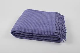 Вовняний Плед Vladi - Рогожка фіолетовий 140*200 полуторний