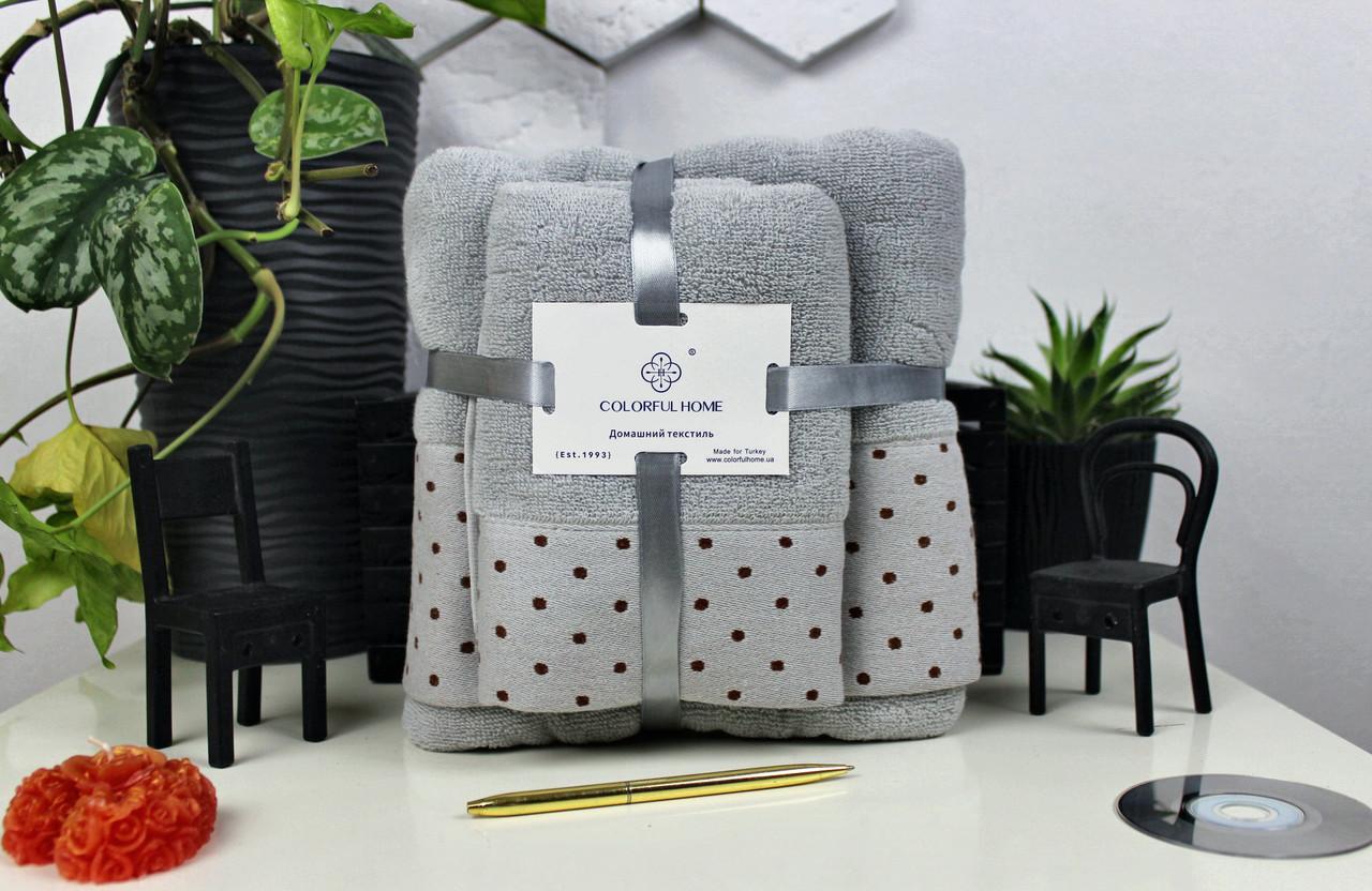 Комплект рушників подарунковий №3999 (1 баня+1 кухня) Бавовна