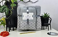Комплект полотенец подарочный №3999 (1 баня+1 кухня) Хлопок, фото 1