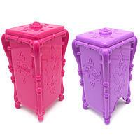 Органайзер для ватных дисков с бабочкой (розовый или фиолетовый)