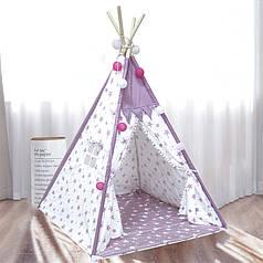 Дитячий ігровий намет Littledove RT-14 Pink Stars вігвам будиночок для дітей