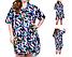 Сорочка - туніка жіноча з коротким рукавом, квітковий принт, SAIMEIQI (розмір 3XL), фото 2