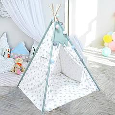 Детская игровая палатка Littledove RT-14 Mint Stars вигвам домик для детей