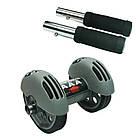ОПТ Фитнес колесо Тренажер двойного действия Roller для пресса рук спины, фото 2