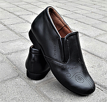 Туфли для мальчика кожаные черные р. 27-35