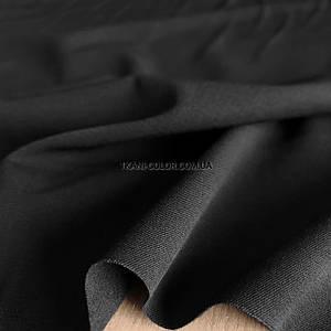 Костюмная ткань тиар на флисе черный