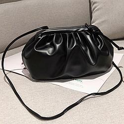 Сумка Pouch (облако пельмень), клатч Bottega черный, Тренд 2021, AL-3651-10
