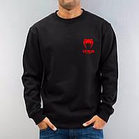 Мужская спортивная кофта (спортивный свитшот) Venum, Венум, черная (в стиле)