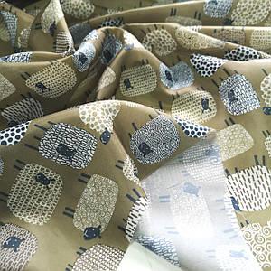 Тканина для підкладки нейлон 170Т прінт овечки