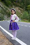 Лавандовий вишитий костюм в школу для дівчаток, фото 4