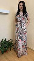 Длинное летнее платье (44-64)