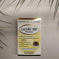 California Gold Nutrition LactoBif Probiotics 100 billion CFU 30 veg caps , пробиотики