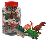 """Іграшка антистрес JL9406 """"Динозавр"""", гумовий у банку 4вида уп45"""