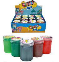 """Іграшка антистрес 2020-72 Лизун """"Slime. Crystal Mud"""", 6цветов 7,5х5,5см уп12"""
