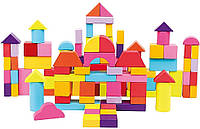Дерев'яні кубики у відрі 100 шт Bіno (84203)