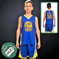 Розпродаж! Форма баскетбольна спортивна NB-SPORT Дитяча підліткова Синій-жовтий (7354) XL