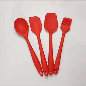 Кухонный набор силиконовых принадлежностей 4 предмета Красный Vincent