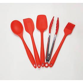 Кухонный набор силиконовых принадлежностей 5 предмета Красный Vincent