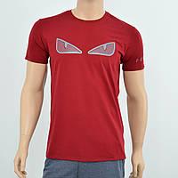 Мужская футболка Fendi  бордо