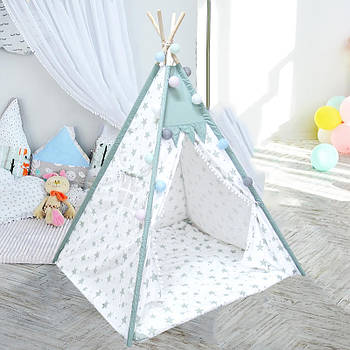 Вигвам Littledove RT-14 Mint Stars детская игровая палатка