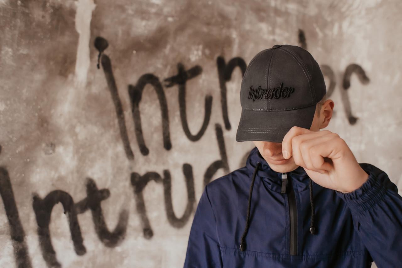 Кепка Intruder мужская   женская серая брендовая бейсболка Big logo + Фирменный подарок