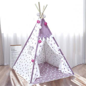 Вигвам Littledove RT-14 Pink Stars детская игровая палатка