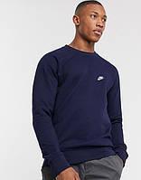 Мужская спортивная кофта свитшот, толстовка Nike (Найк) синяя