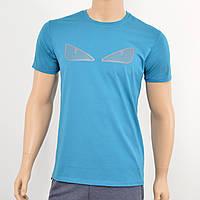 Мужская футболка Fendi бирюза