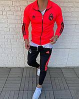 Спортивный костюм яркий адидас FC REAL MADRID модный мужская одежда