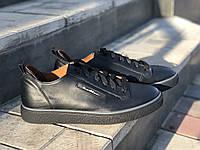 Кроссовки мужские кожаные Mida 111524 ч/син размеры 40,41,42,43,44,45,, фото 1