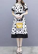 Стильное свободное платье с красивым принтом, фото 3